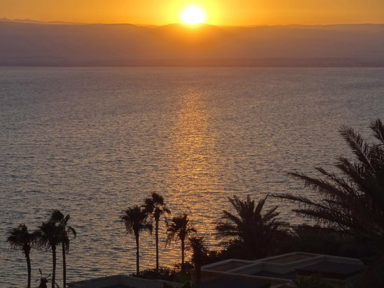 Kempinski Hotel Ishtar Dead Sea: Atardecer sobre el Mar Muerto