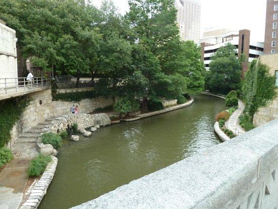 San Antonio River: riverwalk in the morning