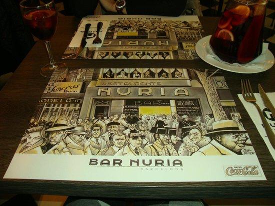 Restaurante Núria: Detalhe da toalha
