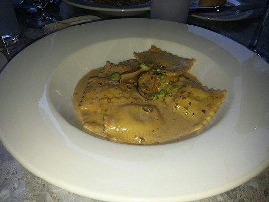 Cafe Bistro du Cap : My favorite- Wild mushroom and veal ravioli