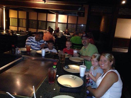 Fuji Japanese Steakhouse : The group before dinner.