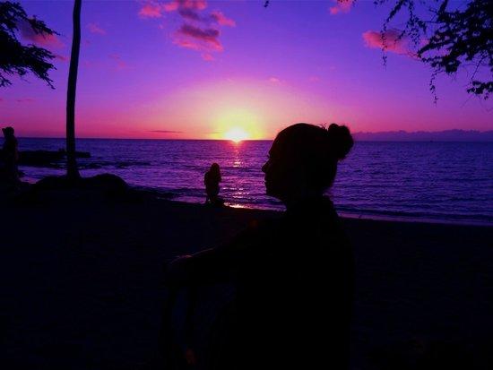 Kona Kozy's Comedy & Magic Show: A photoshopped version of the sunset