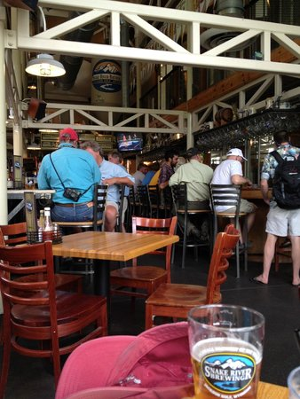 Snake River Brewing: Inside the restaurant