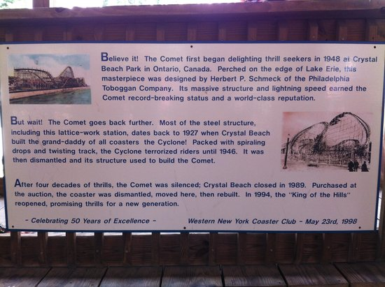 The Great Escape and Splashwater Kingdom : the comet history