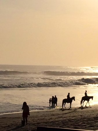 Grand Balisani Suites: Horse riders sharing the sunset hours ...