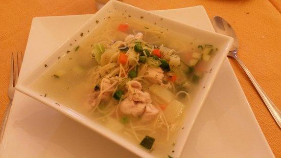 Sopa de dieta de pollo