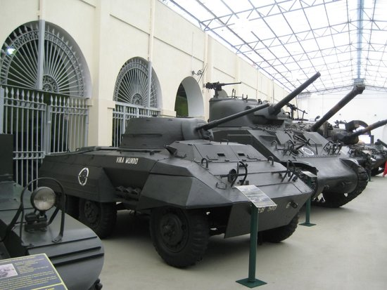 The tanks lined up in the Military Museum