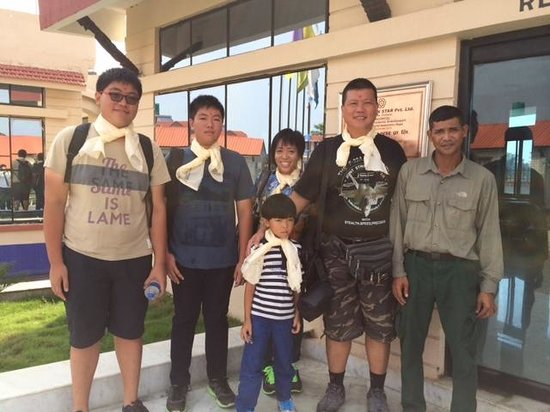 Hotel Seven Star: Photo with jungle safari guide, Mr Harka who takes care of the travel programme of hotel guests