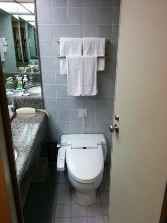 Dai-Ichi Hotel Annex: Typical Japanese high tech toilet bowl