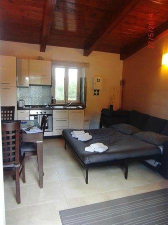 Aurelia Vatican Apartments: Living comedor