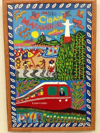 "Museu Internacional De Arte Naif: One of the ""Art Naif"" murals depicting scenes of Rio"