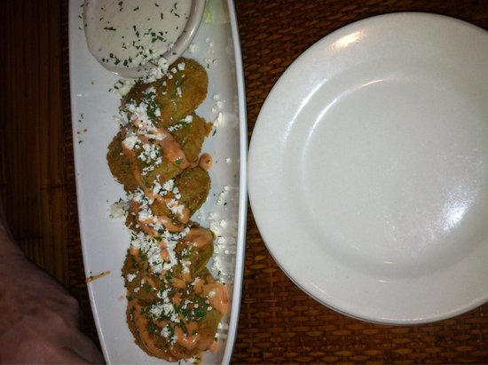 Tubby's Seafood: Fried green tomatoes