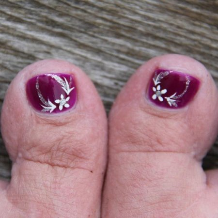 Pedicure by Fang! Another talented artist at Urban Oasis Mineral Spa  |  1445 Portage Avenue, Wi