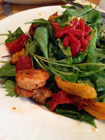 Pine: Grilled shrimp salad
