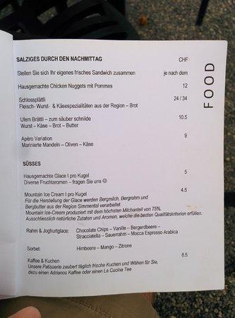 Restaurant Schloss Oberhofen: Menu - food