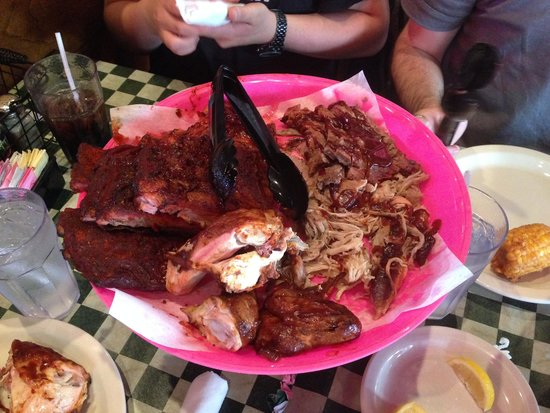 Corky's Bar-B-Q: BBQ ribs, chicken, brisket, and sausage