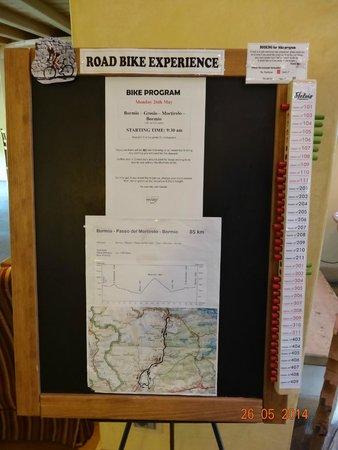 Hotel Funivia: Daily ride board