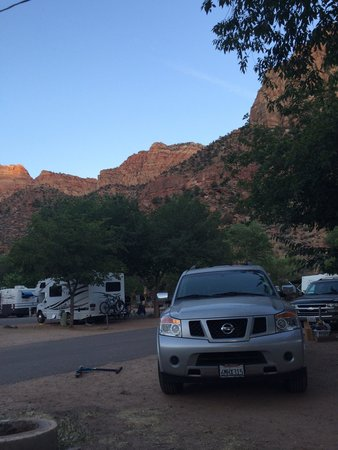 Zion Canyon Campground: Campsite view