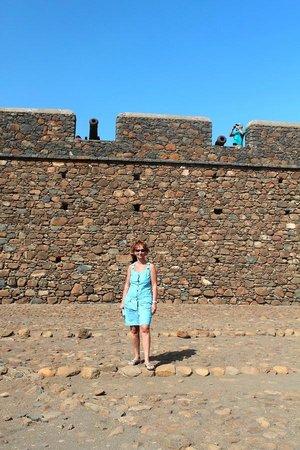 Fortaleza Real de San Felipe: Я и крепость возле Африки