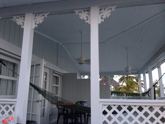 Amy Slate's Amoray Dive Resort: View of balcony if room 12