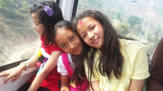 Manakamana Temple : Daughters in Cable Car