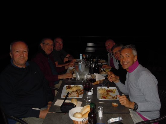 Hotel Des Deux Sorru: La cena dei Bikers in terrazza