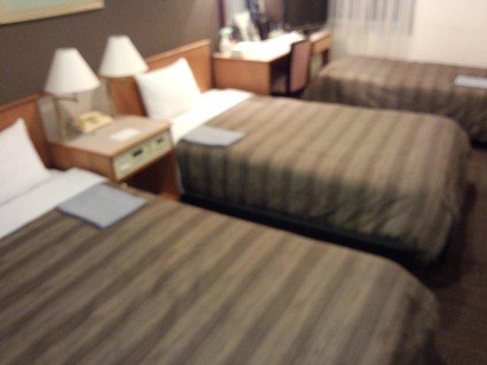 Ark Hotel Osaka Shinsaibashi: ツインルームを補助ベッドを使用してトリプル利用しました