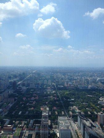 Shangri-La China World Summit Wing, Beijing : вид на город с из номера