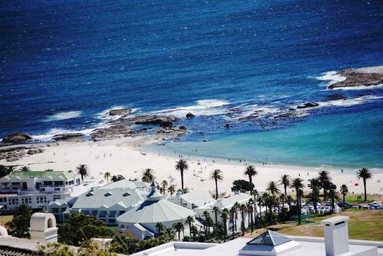 The Bay Atlantic Guest House: Looking down on Camps Bay Beach