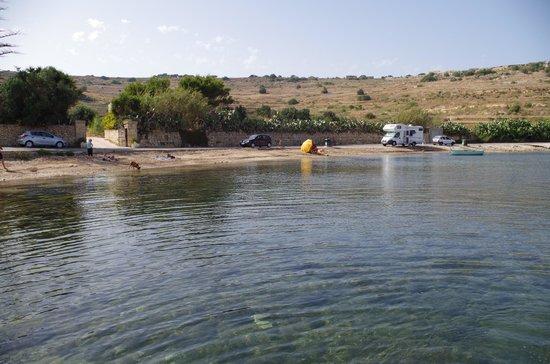 Mellieha Beach : il lato sinistro con la sabbia