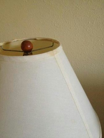 Airtel Plaza Hotel: Old dirty lamp shade