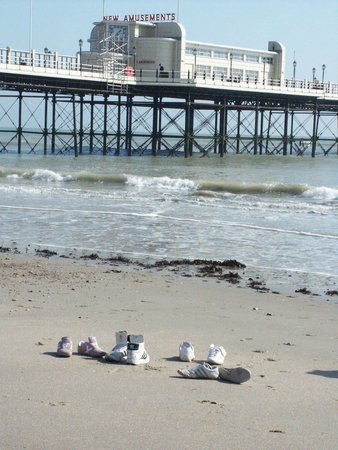 Worthing Pier: View from the beach