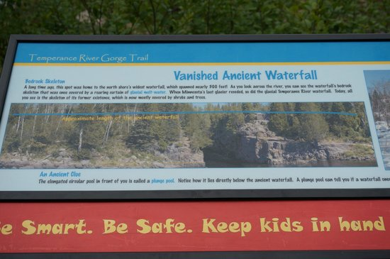 Temperance River State Park: History board