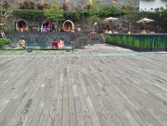 Padma Hotel Bandung : Pool area, with forest view