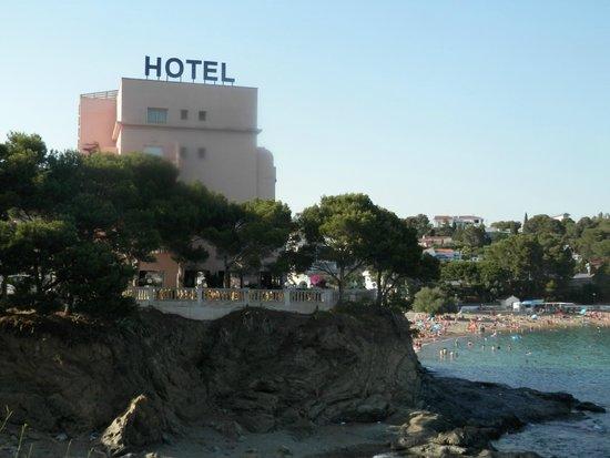 Hotel Grifeu : El hotel a pie deplaya