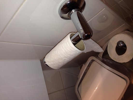 Britannia Airport Hotel: The loo roll I had :/ why not just put the new one on for a new guest !