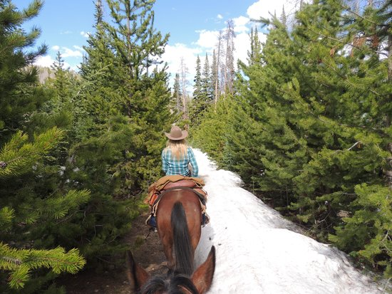 Black Mountain Ranch: Riding in snow