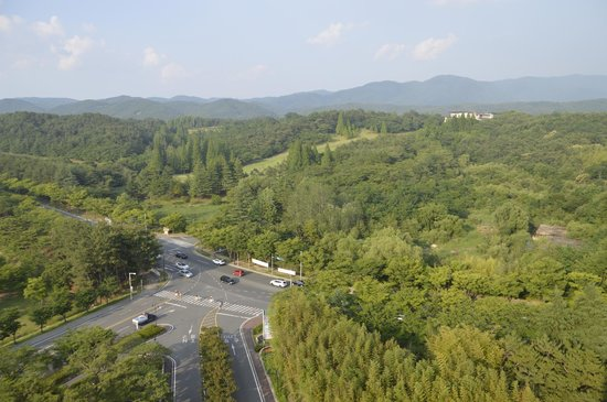 Hotel Hyundai Gyeongju : View from our room