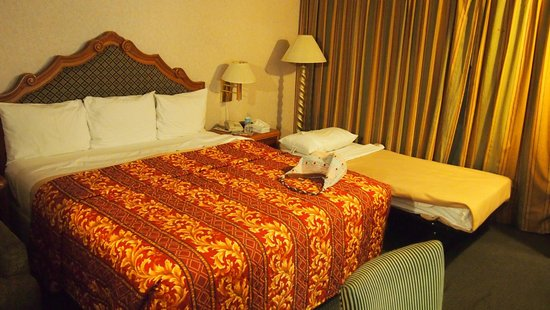 Valley Inn & Conference Center: King size bed plus extra bed