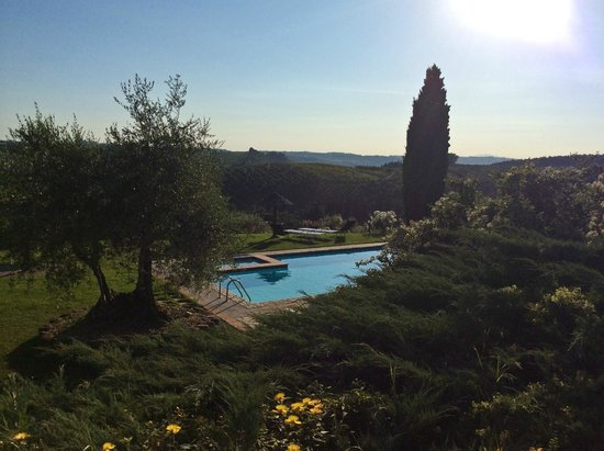 Salvadonica - Borgo Agrituristico del Chianti : Pool am Abend