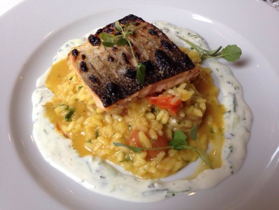Filmore & Union: Trout fillet, risotto and king prawns! Great value for food and the taste!