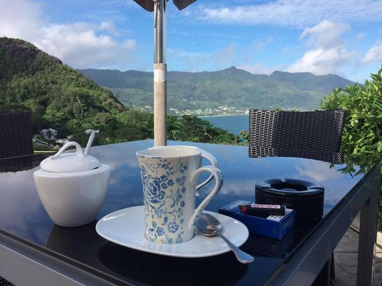 Petit Amour Villa: View with coffee in the morning.