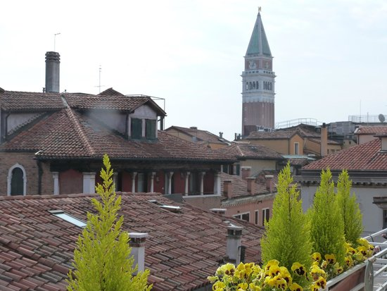 Hotel a La Commedia: View from the roof terrace of the tower in St Marks Square...