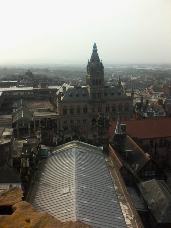 Chester Cathedral: veiw from the tower of chester
