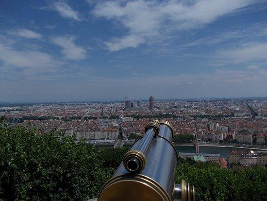 Basilique Notre Dame de Fourviere: view over Lyon from Basilica