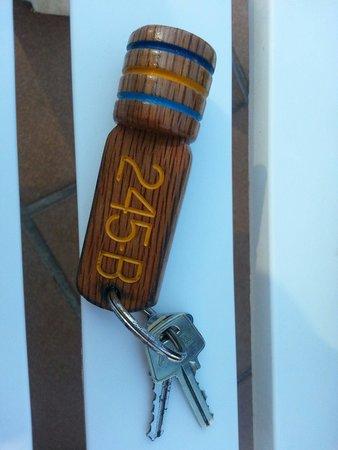 Club Cala Romani: The huge door key