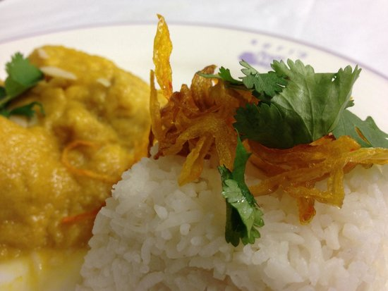 Kutis: Chicken Korma with steamed rice