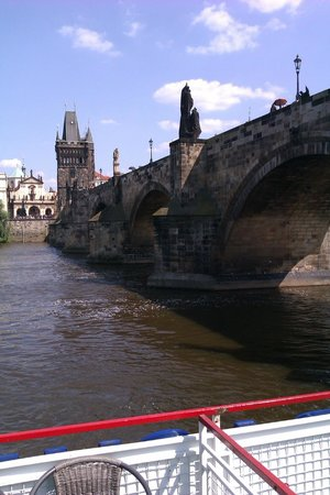 Charles Bridge: view from the river