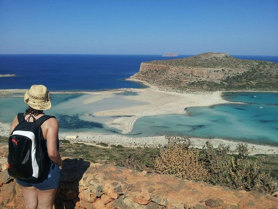 Balos Beach and Lagoon : Vista dall'alto