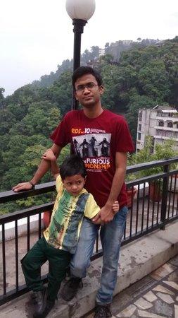 Hotel Vishnu Palace: view from hotel top